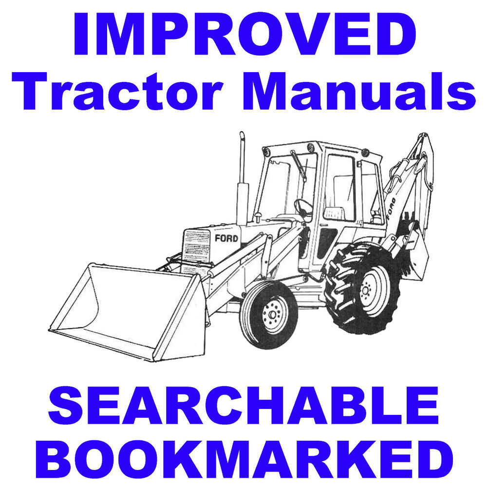 hight resolution of details about ford tractors 455c 555c 655c backhoe tractor service repair manual searchable cd