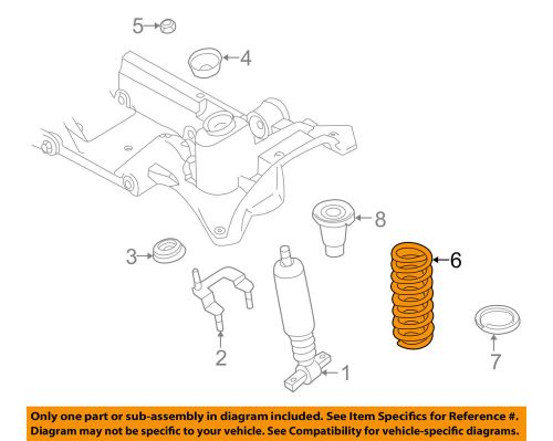 small resolution of details about volvo oem 98 00 v70 rear suspension spring 9461883