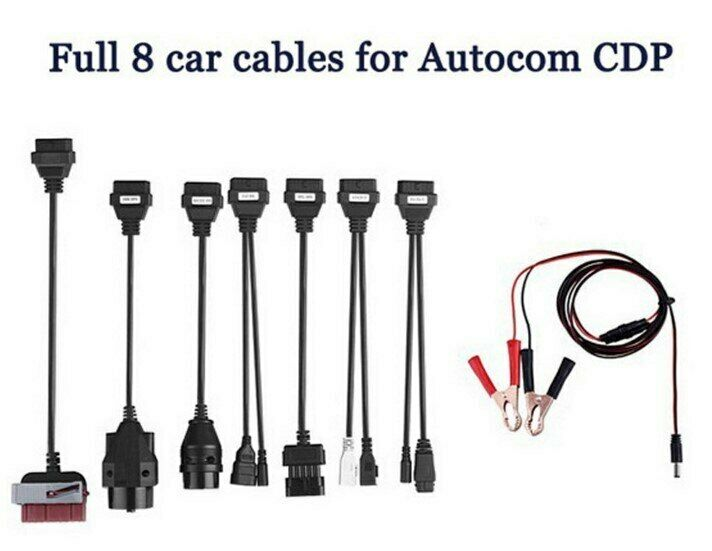 Full 8 Sets Car Cables For Car Diagnostic Tool Autocom