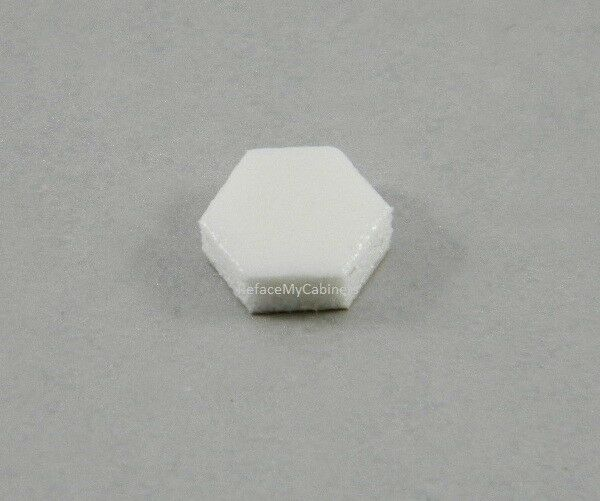 108 HEXAGON PORON BUMPERS FOR CABINET DOORS WHITE  eBay