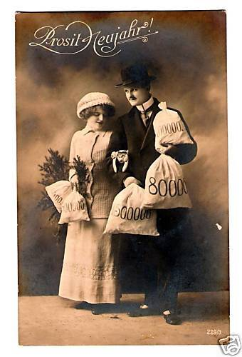 Vintage Postcard Real Photo German Happy New Year 1918 EBay