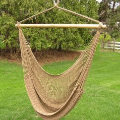 Hammock Chair Stand White Cover Rental Milwaukee Deluxe Extr Large Brown Rope Cotton Swing | Ebay
