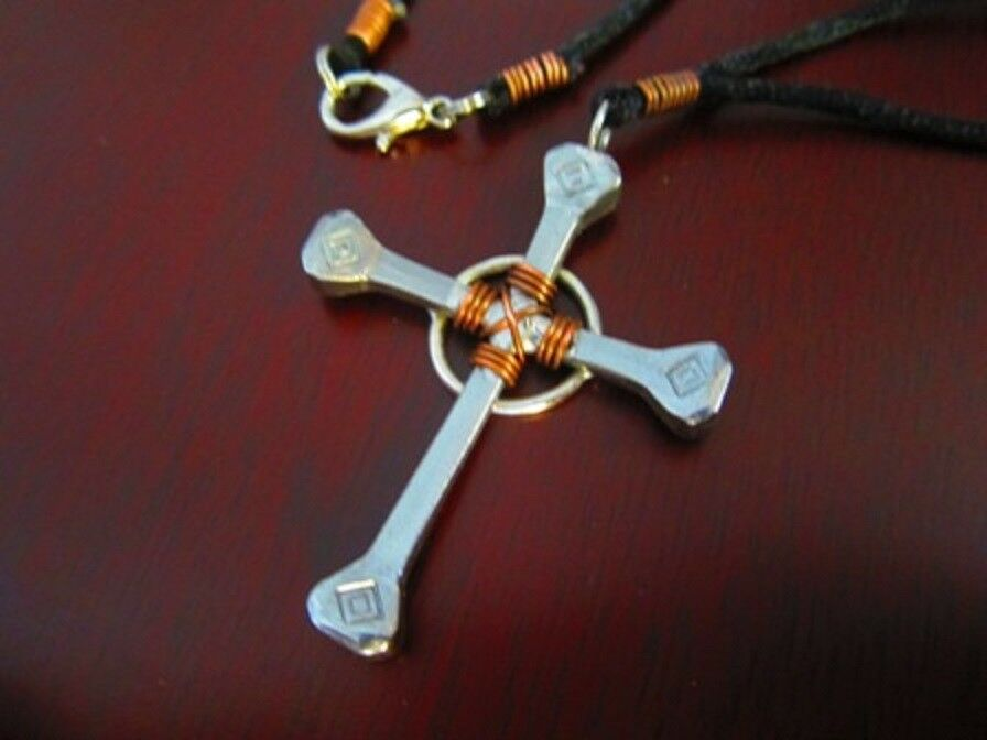 Nail Cross Necklace Horseshoe Nail Amp Copper Wire Wrap