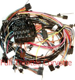 1969 all makes all models parts dash wiring harnes 1971 corvette dash wiring harness for cars without air [ 1000 x 984 Pixel ]