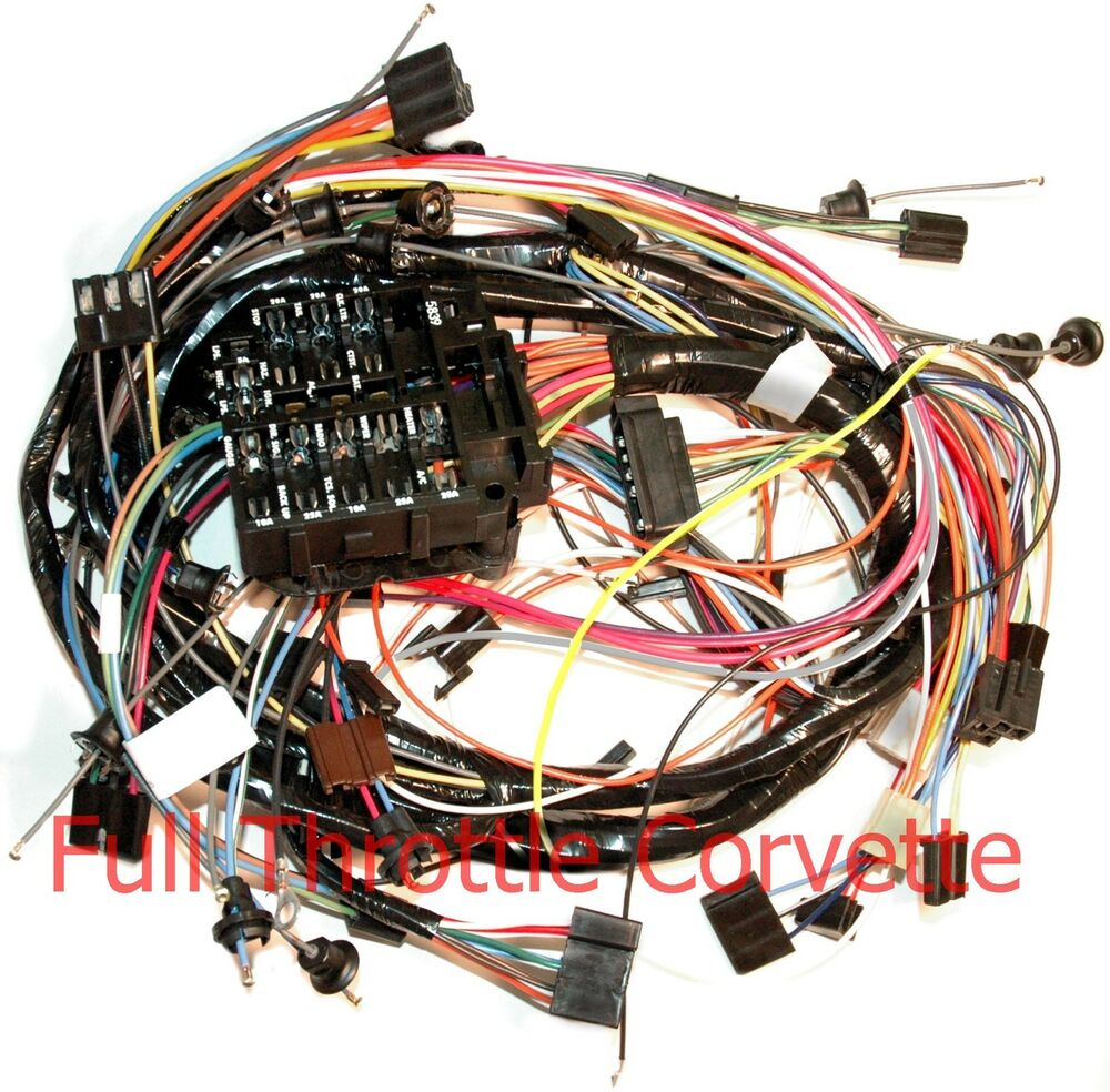 medium resolution of 1969 all makes all models parts dash wiring harnes 1971 corvette dash wiring harness for cars without air