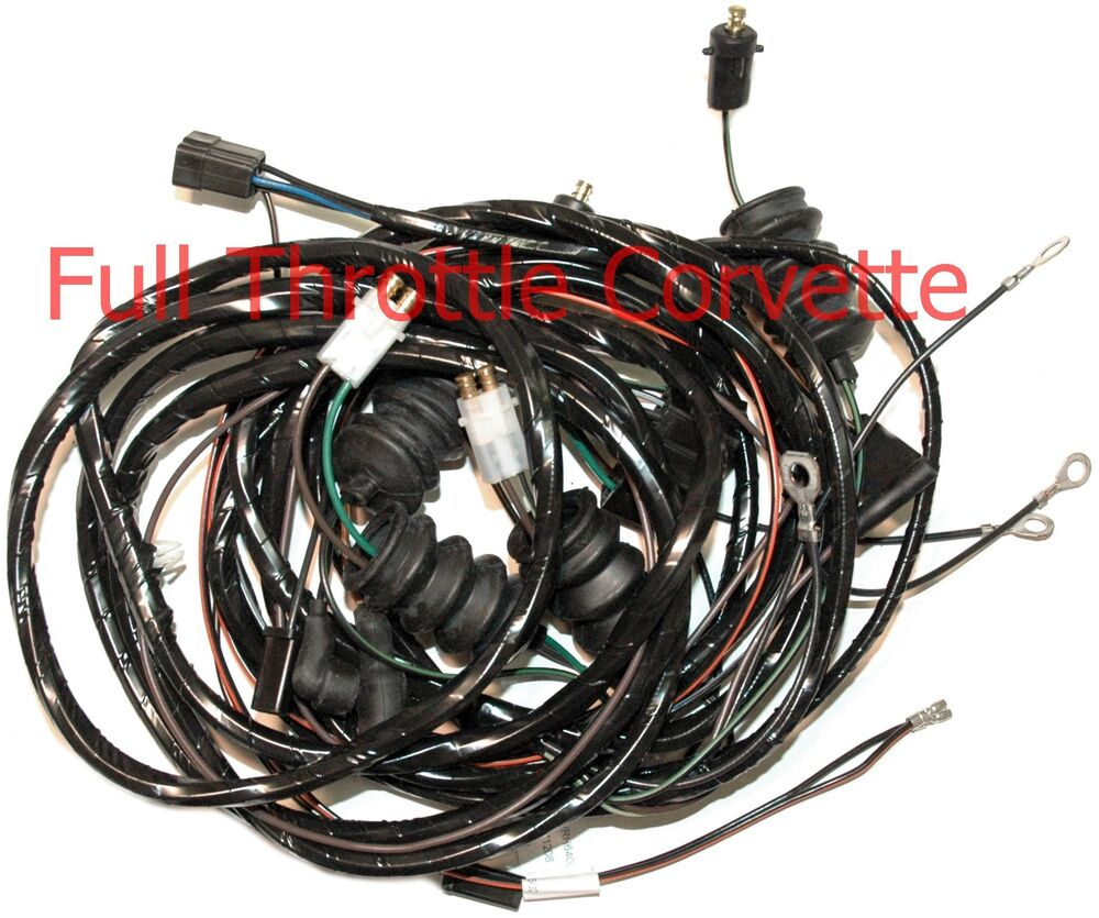 hight resolution of details about 1964 corvette coupe rear body wiring harness with back up lights