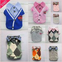 Handsome Boy Dog Pet Clothes T Shirt Collar Top Outfit ...