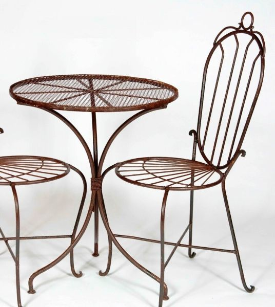 "wrought iron patio furniture 24"" Round Wrought Iron Table - Patio Furniture for All Occations, Chairs Avail. 