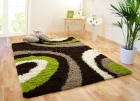 MED - EXTRA LARGE DARK CHOCOLATE BROWN LIME GREEN BEIGE ...