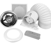 Bathroom/Shower Extractor Fan Light Kit With Timer