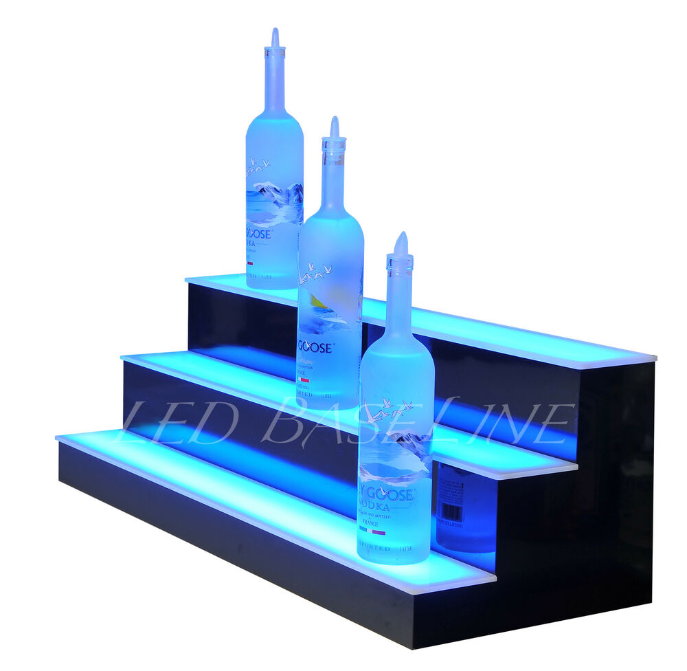 30quot Led Lighted Bar Shelves Three Step Remote Color