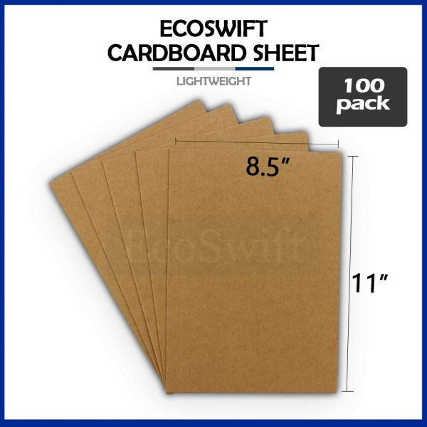 8.5x11 Chipboard Cardboard Craft Scrapbook Scrapbooking Sheets 8 1 2 X 11