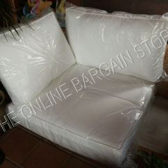 Armless Chair Uk Red Swivel Chairs For Living Room 3 Pc Pottery Barn Stratton Sofa Sectional Replacement Corner Cushion White 33x34 | Ebay