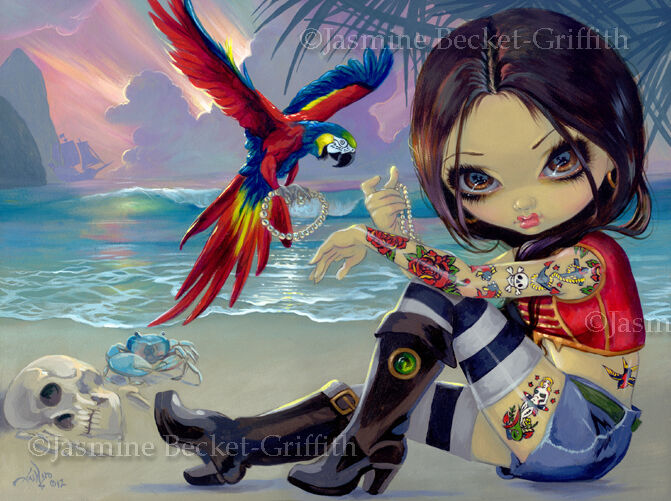 Jasmine Becket Griffith Art Print SIGNED Bootstrap Betsy