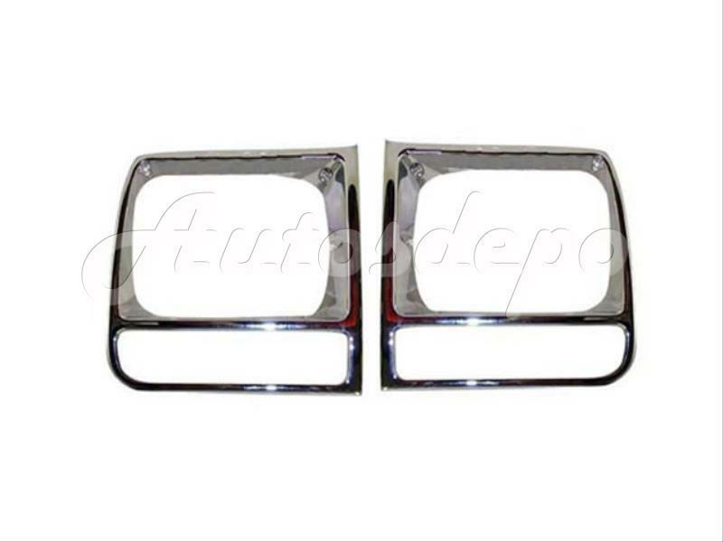 1997-2001 JEEP CHEROKEE HEADLIGHT DOOR BEZEL ALL CHROME