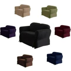 3 Seater Sofa Cover Dalton 1 Piece Luxury Micro Suede Loveseat Arm Chair Slip ...