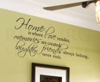 Wall Decal Quote Sticker Vinyl Lettering Home is Where ...