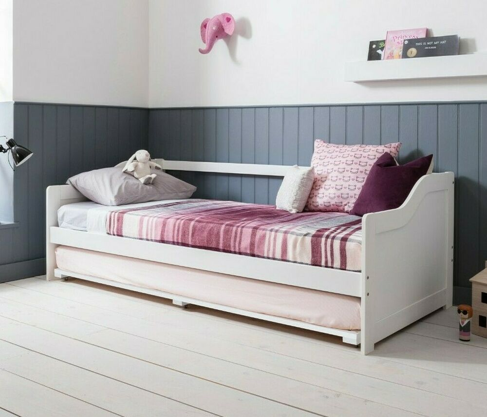 Day Bed Single Bed With Underbed In White 2 Beds In 1 EBay