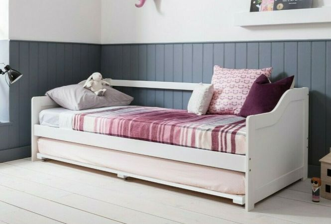 Day Bed Single With Underbed In White 2 Beds 1