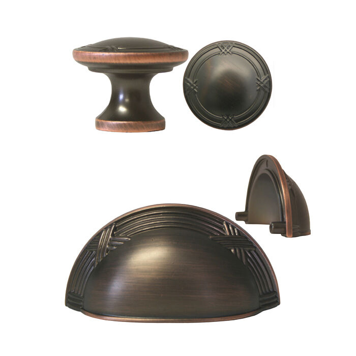Oil Rubbed Bronze Ribbon  Reed Kitchen Cabinet Drawer