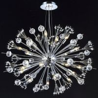 "CRYSTAL & CHROME, ""Sputnik"" STYLE, 24 Light Chandelier ..."