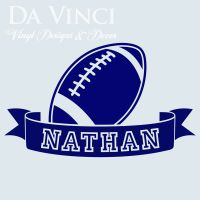 Personalized Boy Name American Football Ball Vinyl Sticker ...
