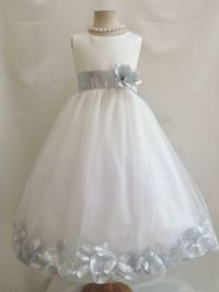 IVORY/SILVER GRAY TODDLER INFANT BRIDAL PAGEANT PARTY ...