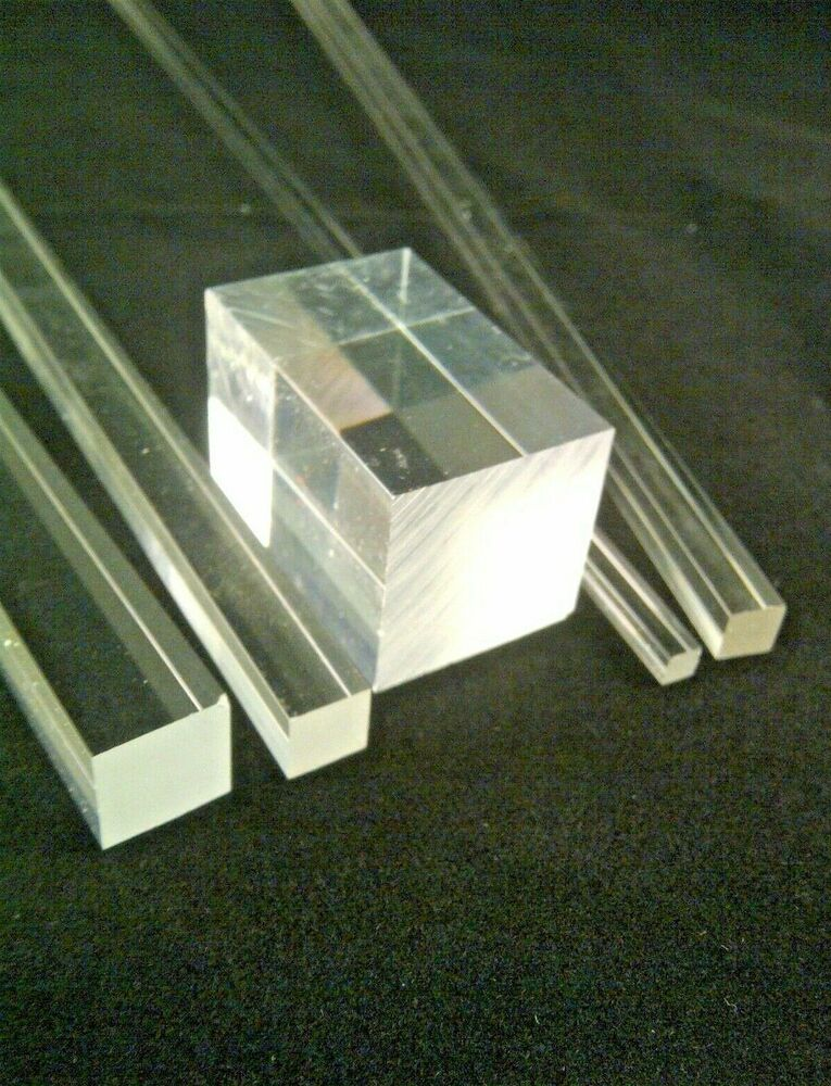 Square Clear Acrylic Rod Solid Perspex Plastic Bar Rod 3mm