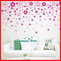Floral rain flower Wall decals Removable stickers decor