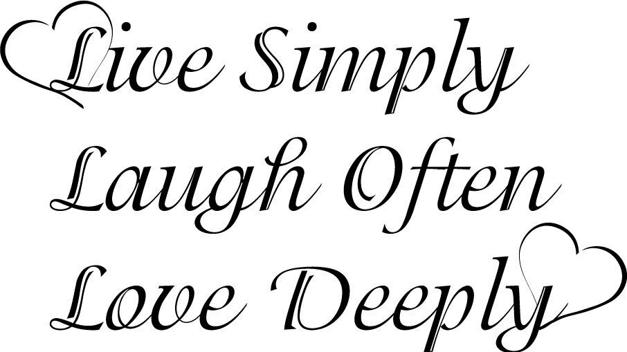 Download Live simply Laugh Love Deeply Decor vinyl wall decal quote ...