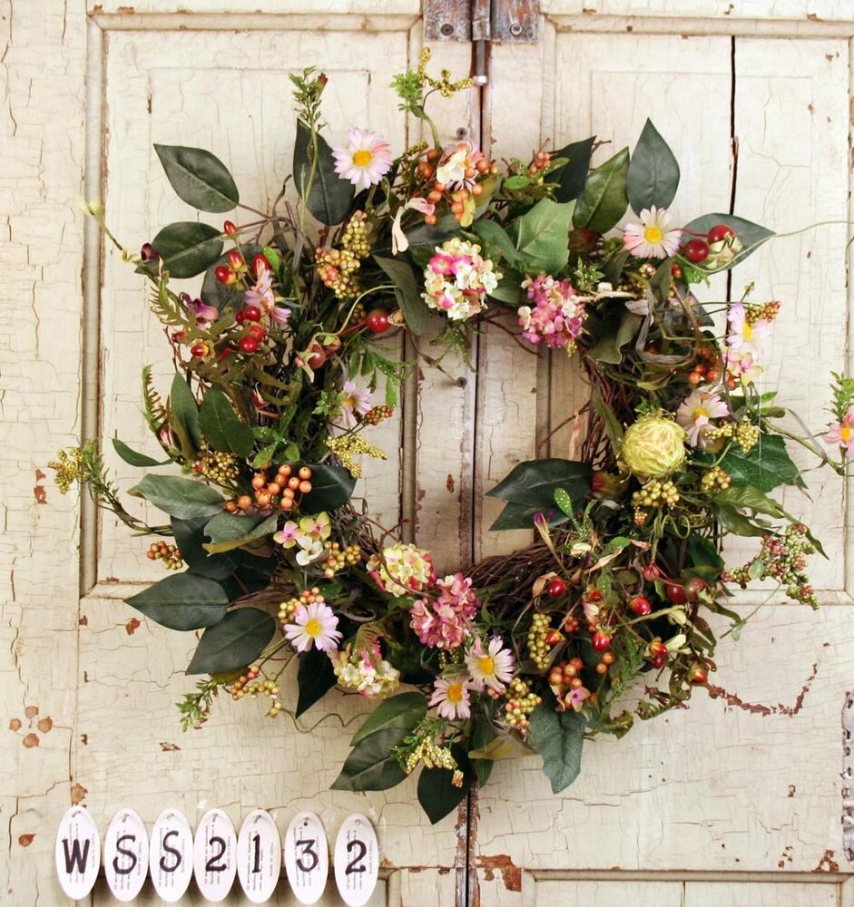 Unique Garden Silk Wreath Artificial Wreaths For Front