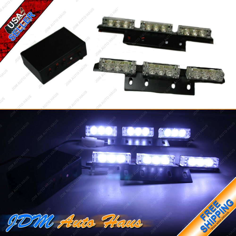 18 LED Emergency Vehicle Strobe lightsLightbars for Deck