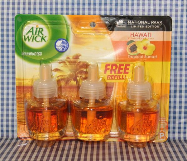 3 Refills Air Wick Hawaii Tropical Sunset Scented Oil