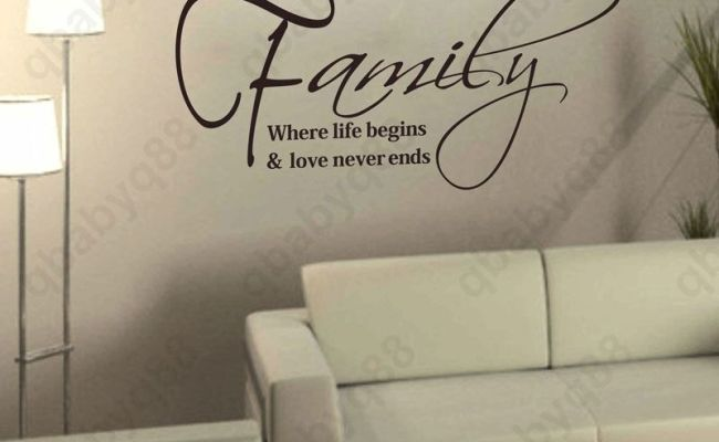 Large Family Wall Quotes Decals Removable Stickers Decor