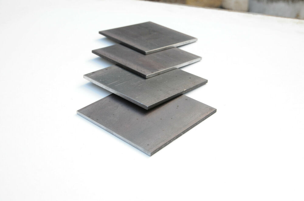 Flat Square Black Mild Steel Plate 100mm X 100mm X 6mm