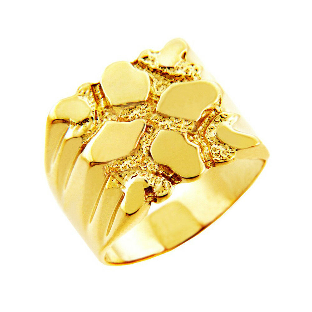Mens Summit Solid Gold Nugget Ring  eBay