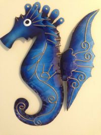 METAL WALL ART SEAHORSES FISH DOLPHINS ASSORTED COLOURS | eBay