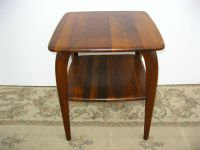 Vintage Danish Mid Century Modern Two Tier Square END ...