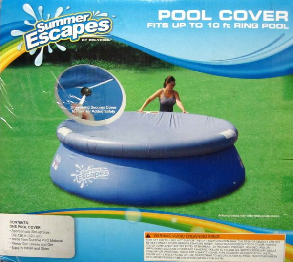 Summer Escapes Pool Cover 10 Ft Ring Diameter 126 In Easy Set Above