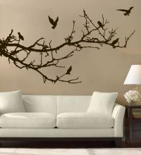 Tree Branches Birds Wall Art Free Squeegee! Decal Sticker ...