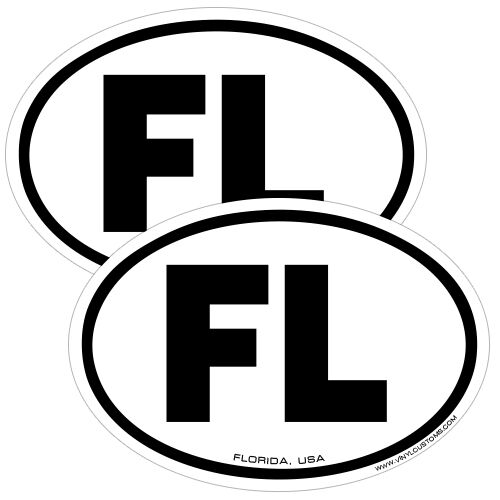 Florida, FL State Euro Oval JDM Window Car Truck Decal