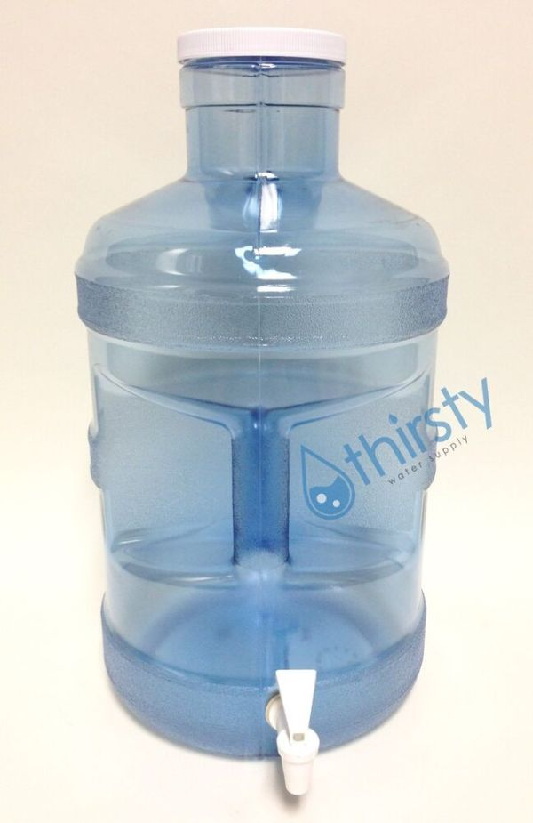 5 Gallon Water Bottle Big Cap Polycarbonate w spigot H2O