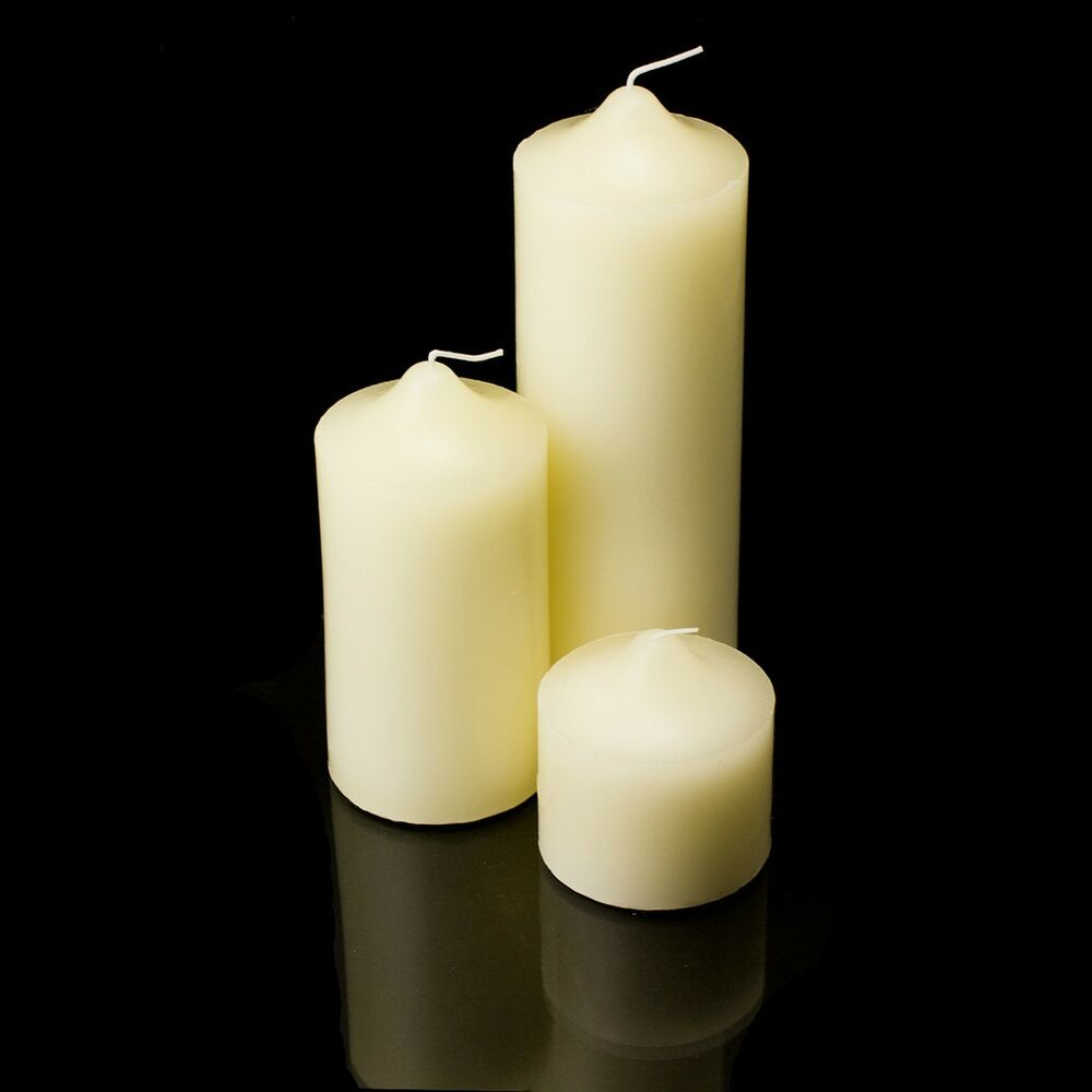 New Pillar Wax Candles Candle Unscented Weddings