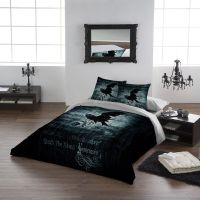 Wild Star Home Double Bed Duvet Set 'Nevermore' Gothic ...