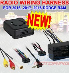 details about 2016 2017 2018 dodge ram wiring harness lc chrc 01 wiring interface usb update [ 1000 x 920 Pixel ]