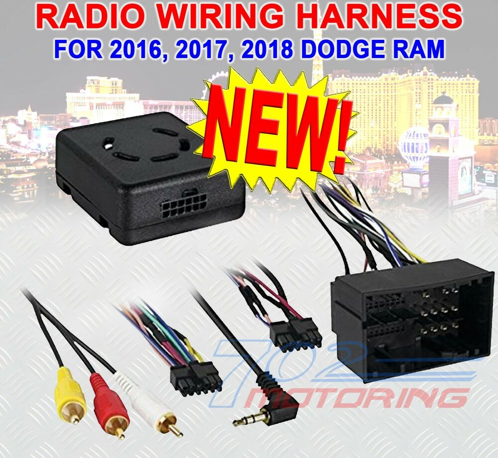 hight resolution of details about 2016 2017 2018 dodge ram wiring harness lc chrc 01 wiring interface usb update