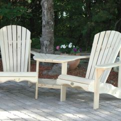 Tete A Chair Outdoor Coca Cola Table And Chairs (1) Bear Bc950p White Pine Adirondack Angled Tete-a-tete Patio Kit | Ebay