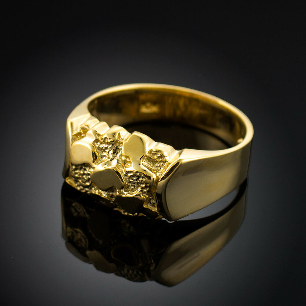 Gold Nugget Center Ring  eBay