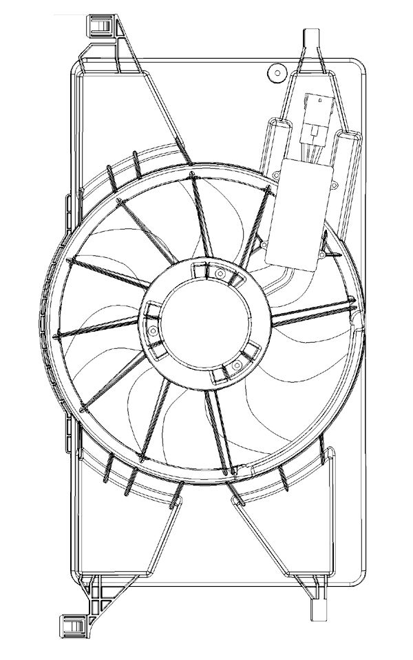 2012-2013 Ford Focus Radiator/AC Condenser Fan Assembly