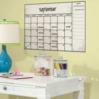 New Giant DRY ERASE BOARD CALENDAR WALL DECALS Peel